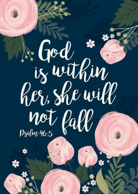 If God is with her she will not fall